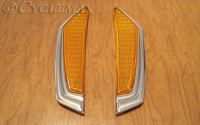 Amber Vertical Reflector