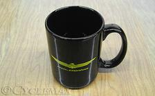15 oz Black Ceramic Goldwing Mug