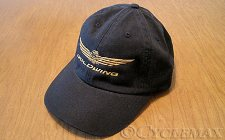 Black Goldwing Twill Baseball Cap