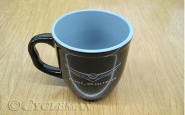 20 oz Two Tone Black and Grey Ceramic Goldwing Mug