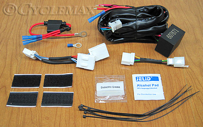 GL1800 & F6B Trailer Wiring Harness (K7676) on trailer generator, trailer hitch harness, trailer fuses, trailer brakes, trailer mounting brackets, trailer plugs,