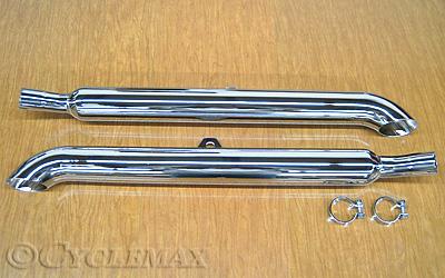 GL1500 Chrome Turn Down Mufflers
