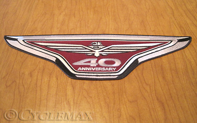 GL1800 14 inch 40th Anniversary Goldwing Patch
