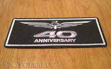 GL1800 5 inch 40th Anniversary Goldwing Patch