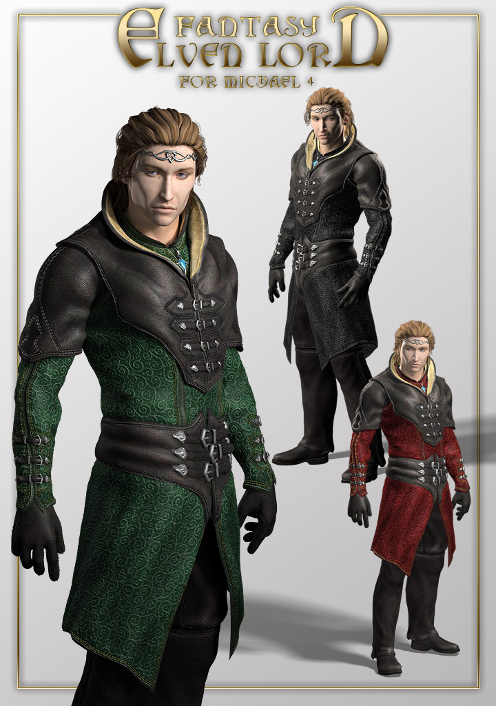 xurge 3d corporation fantasy elven lord outfit for m4
