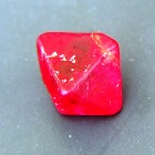 Full spinel crystal in that shining red, famously found in Mahenge. This 'rough' is facet quality (gem quality) but I feel it could (or should) be set as it is, either in a ring or a pendant. Our workshop can do it.