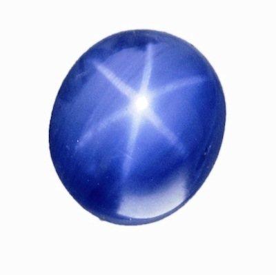 Mild cornflower blue Burmese Star Sapphire