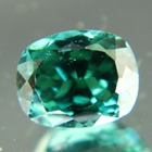 green blue tourmaline from kashmir free of treatments, cushion shaped