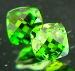 matching pair of certified untreated peridots in highest quality
