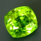 square cushion lime green pakistani peridot free of treatments over 10x10mm
