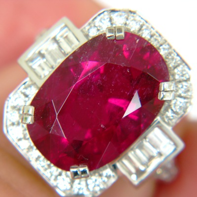 deep red rubellite from the old mines Minas Gerais