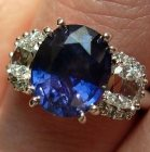 natural from the earth kashmir blue sapphire set in gold ring
