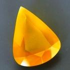 fire opal in soft yellow orange