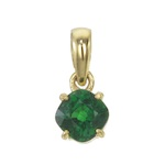 beautiful pendant with an natural no heat tsavorite in 18k yellow gold