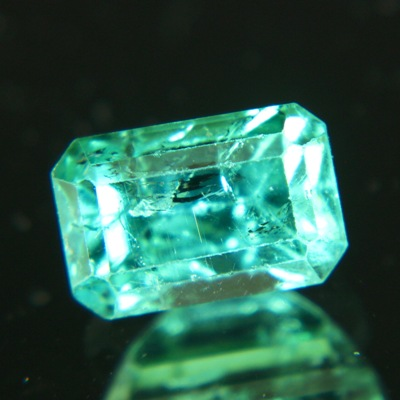 paraiba-type tourmaline in emerald cut
