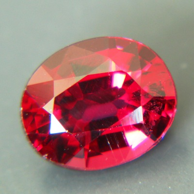 red garnet from kashmir free of treatments, oval orange red