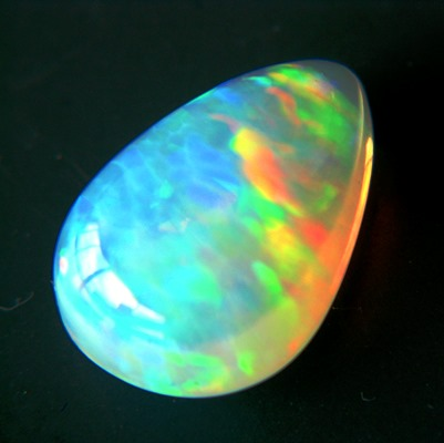 big untreated all color welo opal in pear shape
