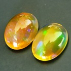 untreated green in orange welo opal crystal