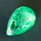 Sandawana oil-only emerald in pear cut deep vivid green