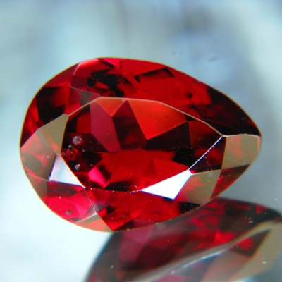 pear rhodolite with certificate