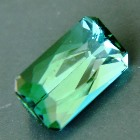 seafoam tourmaline free of treatments, precision cut