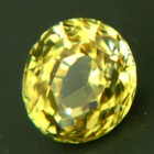 Unheated electric yellow sapphire