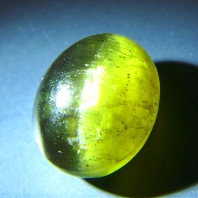 big yellow green cat's eye of apatite