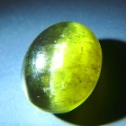 big yellow green cat's eye of apatite