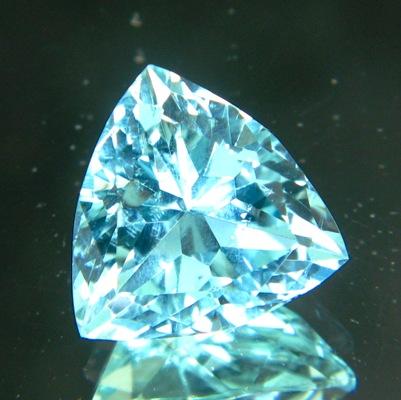 certified Neon blue aquamarine 12 carat