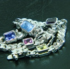 bracelet with several natural gemstones unheated and untreated