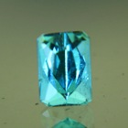 cristal blue water indicolite rectangular shape untreated