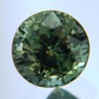 unheated green round sapphire