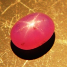 Silky vivid pink Ceylon star Sapphire