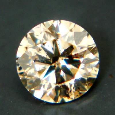 round ideal cut brilliant champagne diamonds without artificially coloring