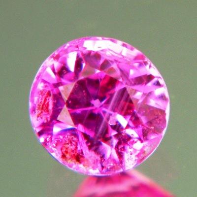 Neon purplish pink Burma sapphire