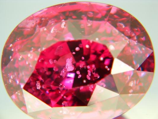 Rose pink red Burma spinel