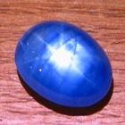 Silky cornflower blue Ceylon star Sapphire