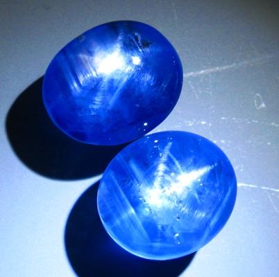 Cornflower blue Ceylon star Sapphire