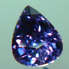 blue teardrop shape natural sapphire not heat