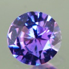 precision cut untreated purple sapphire