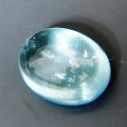 untreated natural single cabochon 4 carats aquamarine oval