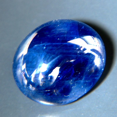 untreated natural deep sky blue single cabochon from Burma near 20 carats