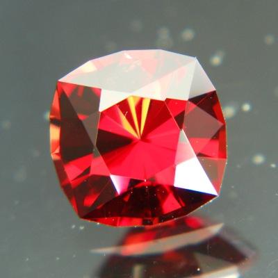 Carmine red Ceylon spinel