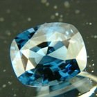 Deep marine blue Ceylon spinel