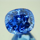 oval shape dark blue afghan sapphire natural