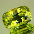 neon lime green chrysoberyl cushion shaped