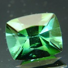 pine green tourmaline in artful antique cut of the 60ies