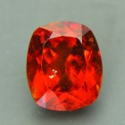 fine orange-red hessonite over 5 carats untreated from Sri Lanka
