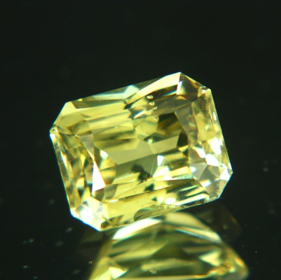 precision cut chrysoberyl in fine yellow