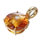 wonderful natural citrine gemstone set in gold pendant